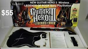 Guitar Hero RedOctane Sunburst PS2 Wireless Guitar Controller
