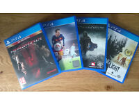 MGS5, FIFA16, DYING LIGHT, SHADOW OF MORDOR