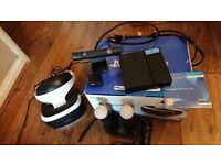 Playstation vr psvr with camera + 2 move controllers and joystick controller