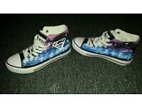 Glow in the Dark Superman Hand Painted Converse size 5