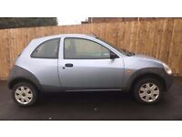 Ford KA1.3litre. Great runner. Ideal First time car. Cheap to run. 1/2 tank of petrol in. ONO.