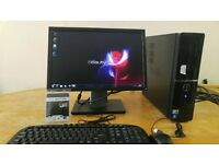 Fast Dell Vostro 220 Computer PC & 19 Dell LCD - Rotate & Tilt SAVE £30