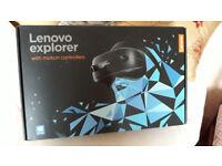 Brand new Lenovo Explorer virtual reality headset with motion sensors