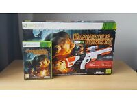 Xbox 360 light gun and wild hunts game