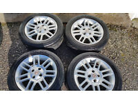 MG 16'' alloy wheels + 4 x tyres 205 50 R 16''