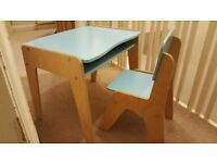 Gorgeous A-space blue desk and chair for child (aged up to 6 or 7)