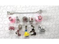 Genuine Disney Princess S925 Sterling Silver Bracelet Charms Fit Pandora £5 each or 5 for £20
