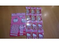 Hello Kitty large party bundle- table covers, pencils, notepads, erasers