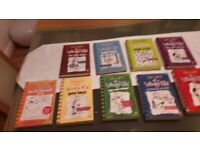 Childrens Books. Diary of a Wimpy Kid. 9 books.
