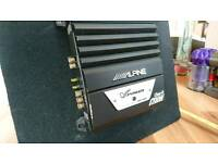Car subwoofer JBL & 700W Alpine amplifier
