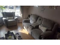 Lazy boy sofa set. All recline