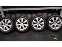 Vauxhall Genuine 17 alloy wheels + 4 x tyres 215 50 17