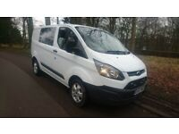 ford transit crewvan, low miles 47k, 1 owner , only £12995 ono NO VAT cash welcome
