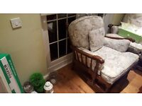 Vintage Retro Style Ercol Armchair Fireside Bedroom Chair Floral