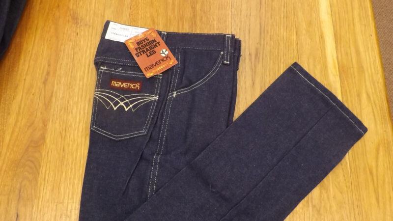VTG Maverick Blue Bell Fashion Denim Blue Jeans sz 12 Slim NOS USA Made 24 x 27