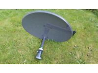 BRAND NEW Genuine Original SKY satellite dish - never used - QUAD LNB - Zinwell