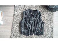 New Look Leather Look Sleeveless Jacket