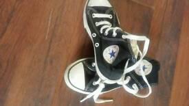 Black kids all star size 12.5