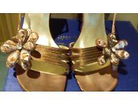 Bronze open toed sandel size 39 or 6