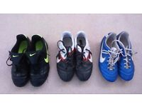 Nike Junior Football Boots Size 4. 3 pairs. Will sell together or split