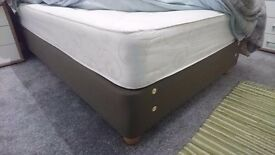Divan with Mattress - Brown