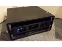 RCF ED 1100: 1100 W, 2 IN, EXTENDED DYNAMIC STEREO POWER AMPLIFIER & CASE FOR SALE / COLLECTION ONLY