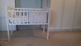Mothercare-White-Baby-Crib-with-matress