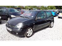 Renault Clio 1149cc Hatchback, Black, Manual, 2003(53), Full Mot