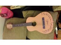 Burswood 30 inch Student Guitar Pink GOOD CONDITION
