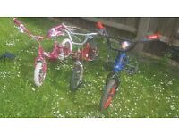 3 Kids Bikes in perfect working order Pink /Red /Blue