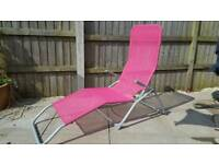 Malibu rolling sun lounger