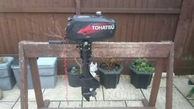 TOHATSU 3.5HP 2 STROKE SHORT SHAFT OUTBOARD FOR DINGHY TENDER RIB SIB BOAT