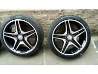 Mercedes 18 amg alloys wheels