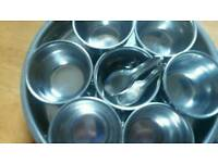 Stainless steel masala spice box