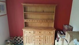 Pine cabinet.