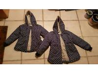Two second hand childrens coats.