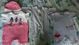 Next newborn rompers with hats and Muslim cloths