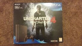 BRAND NEW BOXED UNOPENED PLAYSTATION 4 WITH 1 CONTROLLER AND UNCHARTED 4