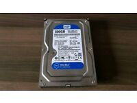 "WD 500GB 3.5"" HARD DRIVE USED"