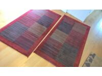 Pair of matching Modern Occassional Rugs 150cm x 80cm