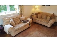 2 x Two Seater Sofas in Good Used Condition.