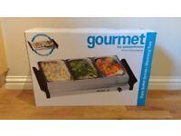 Triple Buffet Server / Warming tray - Gourmet by sensiohome