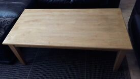 COFFEE TABLE LARGE BEECH *REDUCED NOW ONLY £10*