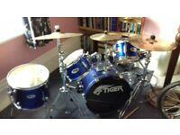 Tiger Five Piece Junior Drum Kit