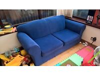 Blue Contemporary 2 Seat Sofa (6ft x 3ft)