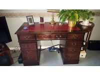 Double Pedestal Desk Excellent Condition £100