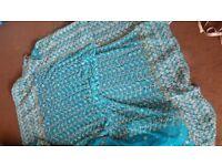 Blue Asian saree wedding dress