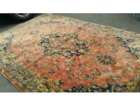 Large Oriental Rug Persian Indian Farmhouse Rustic Chic.