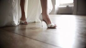 Benjamin Adams Crystal Catherine Wedding Shoes Size 7.5 EU 41