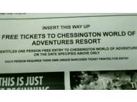 Tickets to Chessington world of adventure